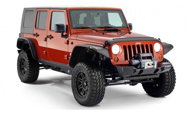 Расширители арок Bushwacker для Jeep Wrangler JK Unlimited 4-дв